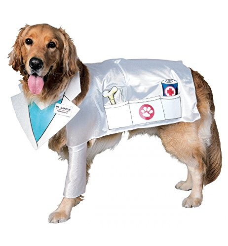 Rubies Costume Halloween Classics Collection Pet Costume, Doctor Barker Veterinarian Dog, Large (Doctor Dog Costume)