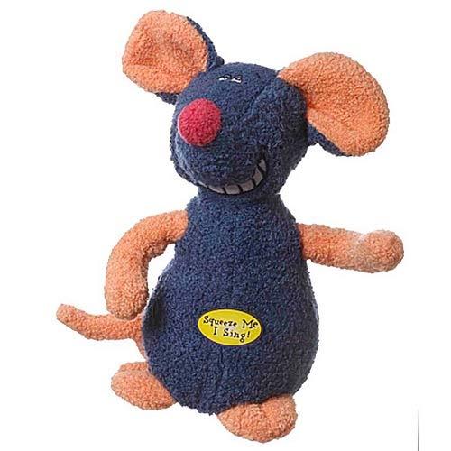 Dog Toys Singing Deedle Dude Soft Playful Choose Mouse Shark Monkey or Rabbit (Mouse)