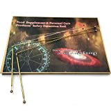 Dowsing Rod Copper with Solid Dowsing Rods One Pair - Ghost Hunting, Divining Water, Gold, Buried Items .Copper Material by The United Kingdom Heritage Industries with Gift Box