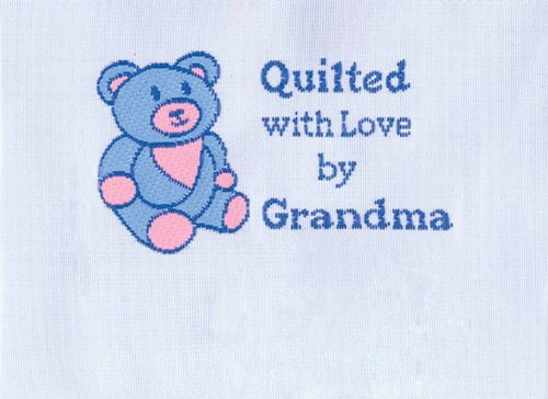 JHB Quilter's Label 1/Pkg-Quilted With Love By Grandma