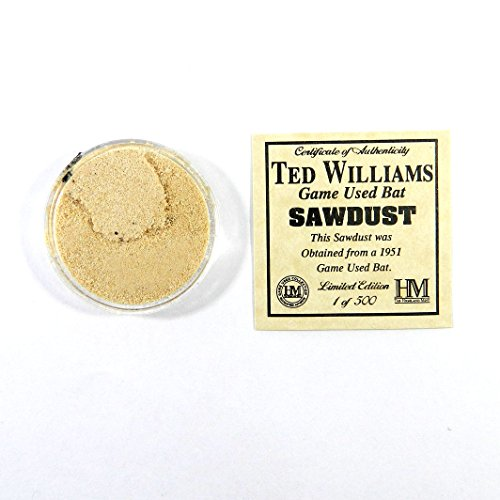 Highland Mint Ted Williams Game-Used Bat Sawdust Limited Edition 1 of 500