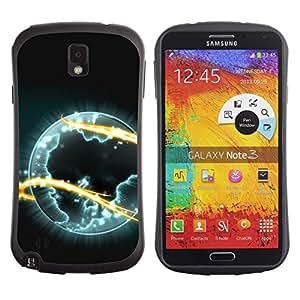 """Pulsar iFace Series Tpu silicona Carcasa Funda Case para Samsung Note 3 , Arte planeta alienígena Universo Eternidad Símbolo Fuego"""""""