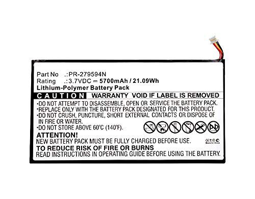 Synergy Digital Battery Compatible with Acer Iconia Tab 10 A3-A40 Tablet Battery (Li-Pol, 3.7V, 5700 mAh) - Repl. Acer PR-279594N Battery