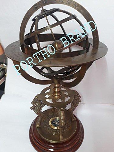Large Aluminum Sundial - Antique Armillary 18