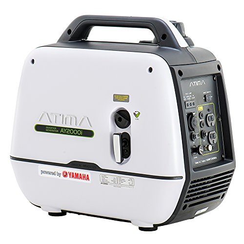 Atima AY2000i Portable Inverter Generator 2000 Watt - Small Quiet Gas Powered Yamaha Engine for Outdoor RV Camping or Home Use