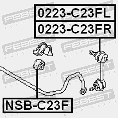 Febest CASQUILLO GOMA BARRA ESTABILIZADORA DELANTERA D27 NSB-C23F