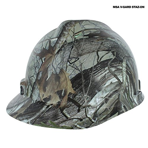 Custom Camo (Rugged Blue Custom Hydro Dipped Next G2 Camo Hard Hat MSA V-Gard Staz-On Cap)