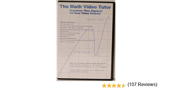 Counting Number worksheets math go worksheets : Amazon.com: Math Video Tutor: Fractions Thru Algebra: Jason Gibson ...