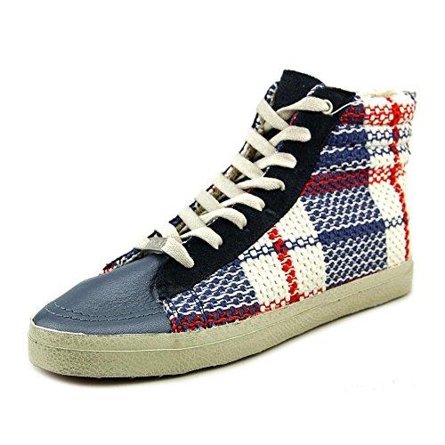 KIM&ZOZI Women's Plaid Fashion Sneaker, Blue, 8 M US