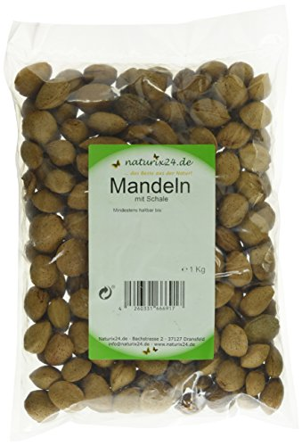 Naturix24 Krachmandeln, Mandeln mit Schale - Beutel, 1er Pack (1 x 1 kg)
