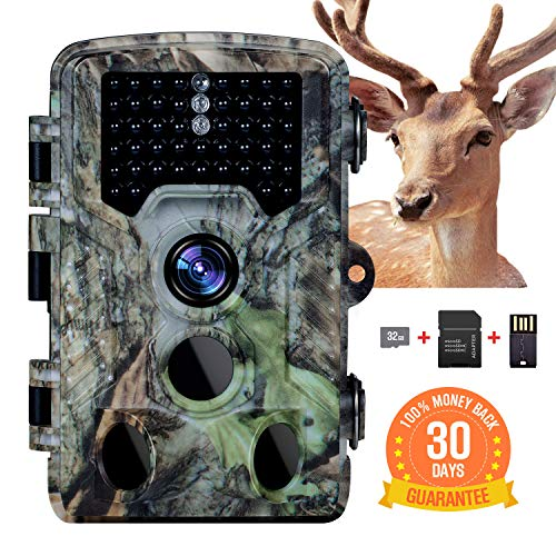 (Memburu Trail Camera Hunting Game Camera 16MP 1080P Scouting Security Trail Deer Camera with 120° Wider Sensing Angle Low Glow Infrared Night Vision IP66 Waterproof for Hunting Wildlife Surveillance)