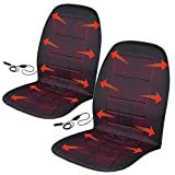 Automotive : BDK Travel Warmer Pair - 2 Heated Seat Cushions Covers 12-Volt Padded Thermal Release