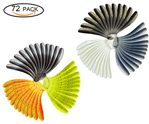 Old Angler 72 pieces Wobblers Fishing Lures Easy Shiner Swimbaits Silicone Soft Bait Double Color Carp Artificial Soft Lure