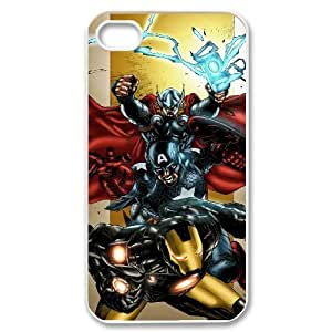 ANCASE Customized Print Avengers Marvel Pattern Back Case for iPhone 4/4S
