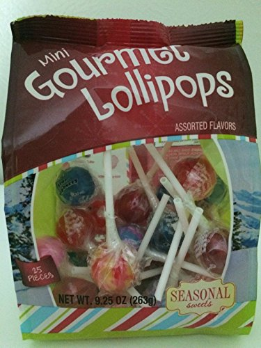 Mini Gourmet Lollipops Assorted Flavors 9.25 oz 25 pieces