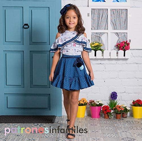Revista Patrones Infantiles nº9 Moda Primavera-verano, 32 patrones de costura infantil con tutoriales en vídeo (youtube),