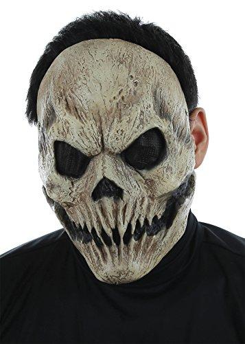 Angel Of Death Costume For Kids (UHC Men's Horror Angel of Death Skull Mask Halloween Costume Accessory)