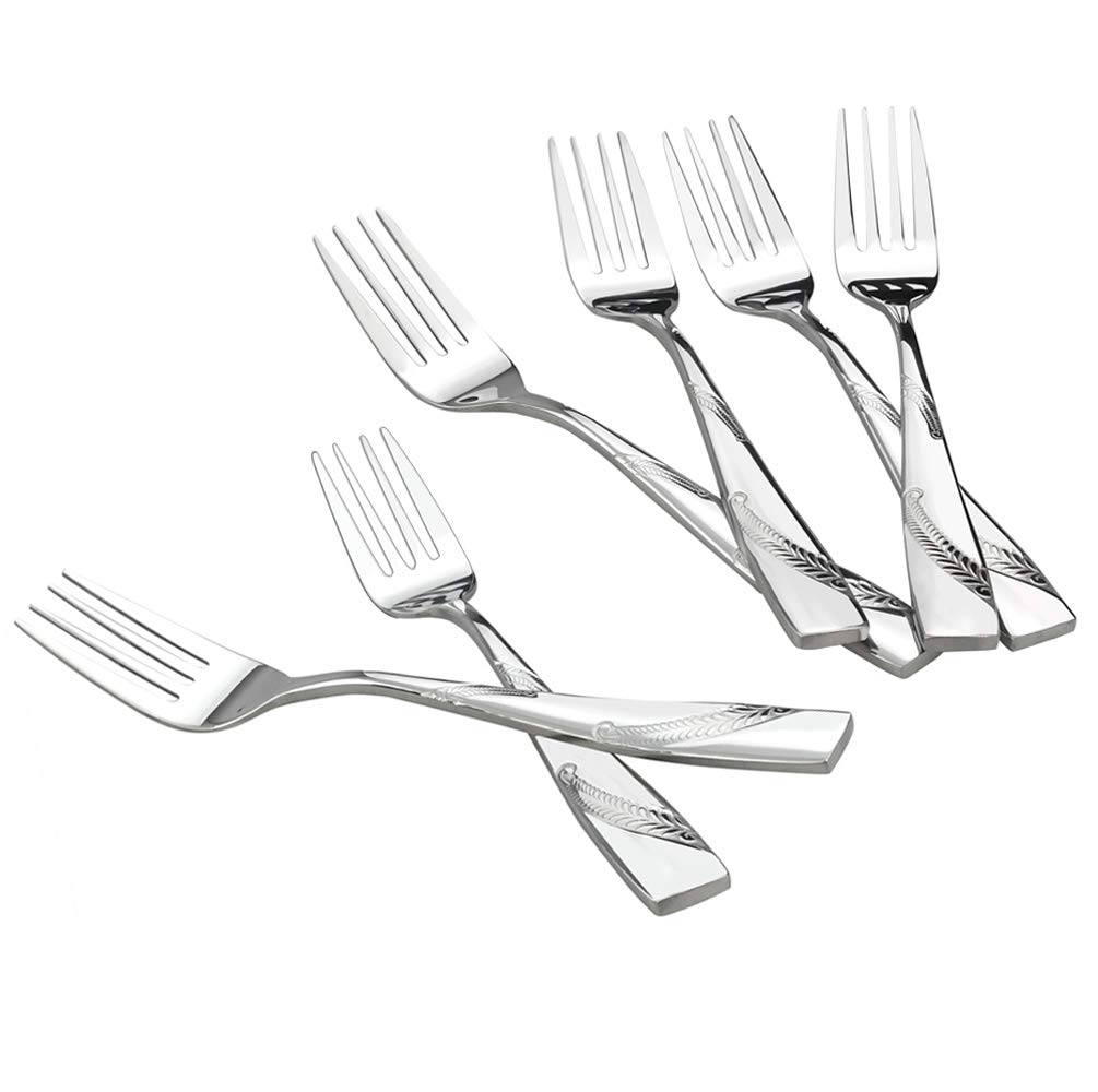 Nicesh 6-Piece Stainless Steel Buffet Serving Fork, Buffet & Banquet Style Serving Forks