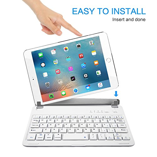 iPad Mini 3/2/1 Keyboard, Raydem Ultra-Thin iPad Mini Wireless Bluetooth Keyboard Folio Cover 130 Degree Multi-Angle Swivel Rotating with Auto Wake/Sleep for Apple iPad Mini 1/2/3 by Raydem (Image #5)