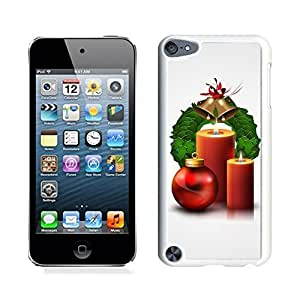 Ipod 5 Cases,Christmas Jingling Bell Red Candle White Hard Shell Plastic Apple Ipod Touch 5th Cases