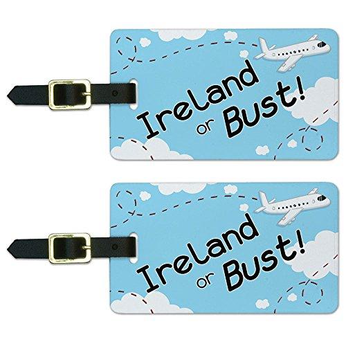 Ireland Flying Airplane Luggage Suitcase