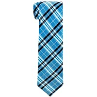 Retreez Stylish Plaid Checkered Woven Boy's Tie - 8-10 years - Various Colors