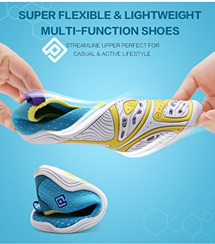 Blue Dry for Sneakers Walking Women Purple Casual Quick PAIRS Sports Yellow Water Shoes DREAM qfRPgwaSa