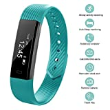 Fitness Tracker, bossblue Smart Fitness Watch Touch Screen Activity Health Tracker Wearable Pedometer Smart Wristband Green