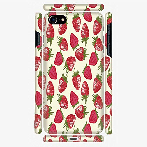Phone Case Compatible with 3D Printed iPhone 7/iPhone 8 DIY Fashion Picture,Plant Vitamin Organic Diet Refreshing Image,Personalized Designed Hard Plastic Cell Phone Back Cover Shell Protective