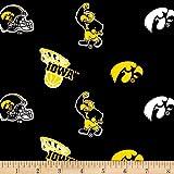 Collegiate Cotton Broadcloth Iowa Fabric By The Yard