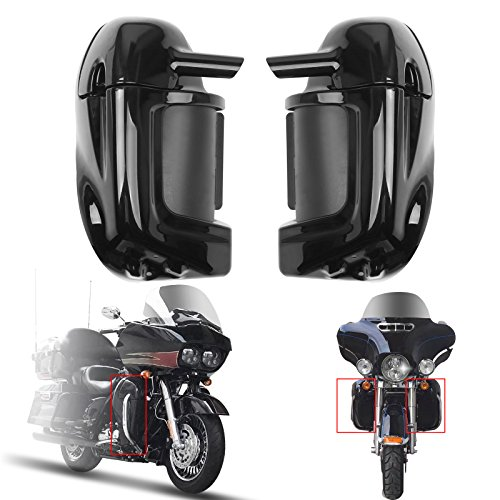 Artudatech Lower Vented Leg Fairing Glove Box For Harley Touring Road King, Street Glide,Road Glide, Electra Glide