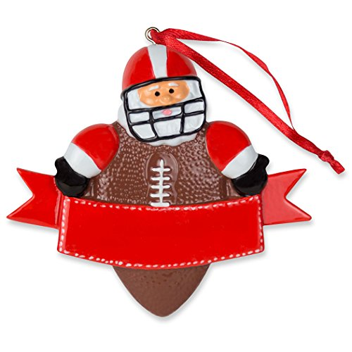 Football Santa Resin Christmas Ornament | Football Ornaments by ChalkTalk Sports ()
