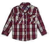Sprockets Boys' Lumber Jack Joe Plaid Western Shirt Baby Toddler Kids (12 Months, Red Plaid)