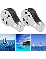 2PCS Pulley Blocks, 316 Stainless Steel Rope Pulley with Nylon Sheave for Kayak Canoe Boat Anchor Trolley