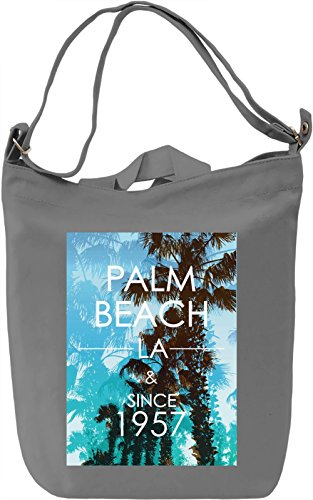 Palm Beach Borsa Giornaliera Canvas Canvas Day Bag| 100% Premium Cotton Canvas| DTG Printing|