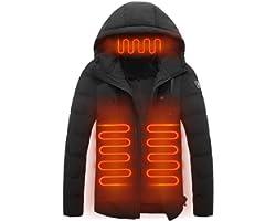 lingqing Jaquetas de aquecimento elétrico masculinas e femininas, carregamento USB ajustável de três velocidades, seguro e co