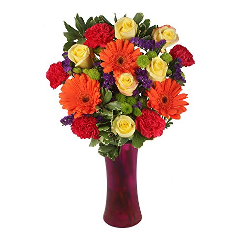 eFlowy - Sparkling Colors Vase Floral Arrangement by eFlowy