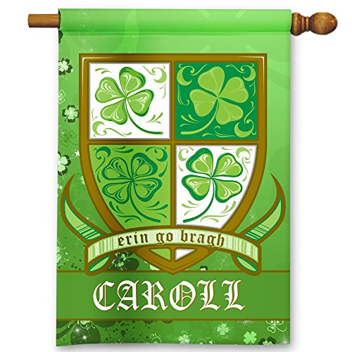 St. Patrick's Day Irish Family Crest Personalized Theme Double-Sided Garden/House Flag For Sale