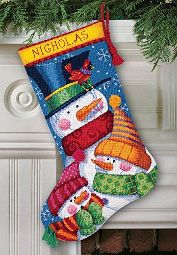 Freezin' Season Stocking Needlepoint Kit-16 Long Stitched In Wool & Thread - Wool Stitched