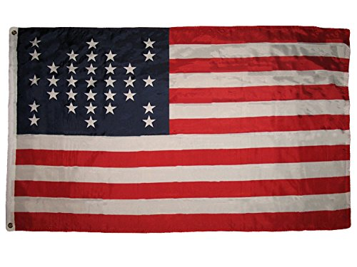 ALBATROS 3 ft x 5 ft USA Ft Fort Sumter Flag Union Civil War 33 Star American Flag Banner for Home and Parades, Official Party, All Weather Indoors Outdoors ()