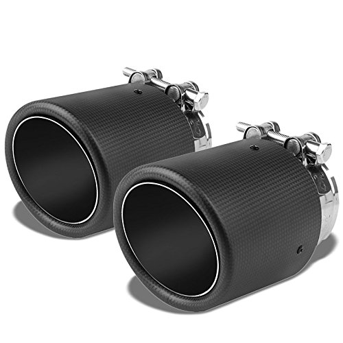 (2x Universal Clamp On Stainless Steel Carbon Fiber Pattern Fiberglass 4