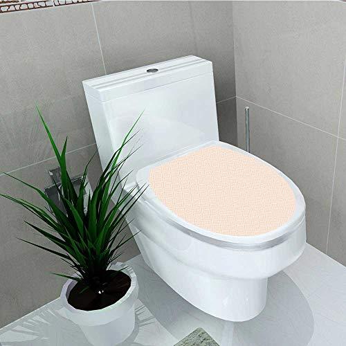 Philip C. Williams Decal Wall Art Decor Line Tile Pastel Color Nested Rhombus Print Peach Cream for Toilet Decoration W14 x L16