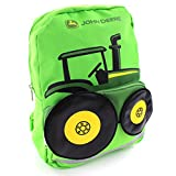 John Deere Boys' Tractor Toddler Backpack, Lime Green