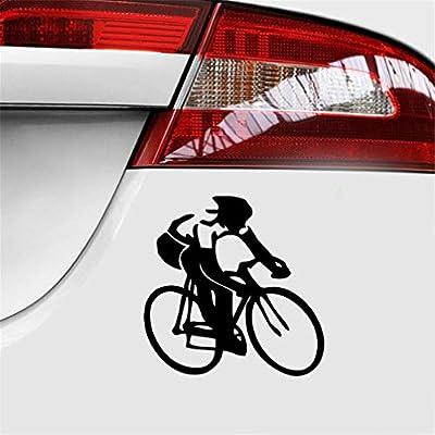 pegatina coche 15 * 15 cm bicicleta ciclista calcomanía ...