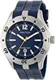 Nautica ' NST 401 Atlantis Date' Quartz Stainless Steel and Resin Casual Watch, Color:Blue (Model: N14641G)