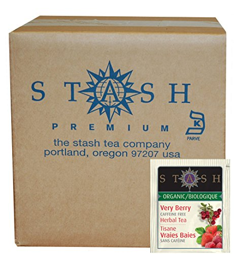 Stash Tea Organic Herbal Tea Bags in Foil, Very Berry, 100 Count (packaging may vary)