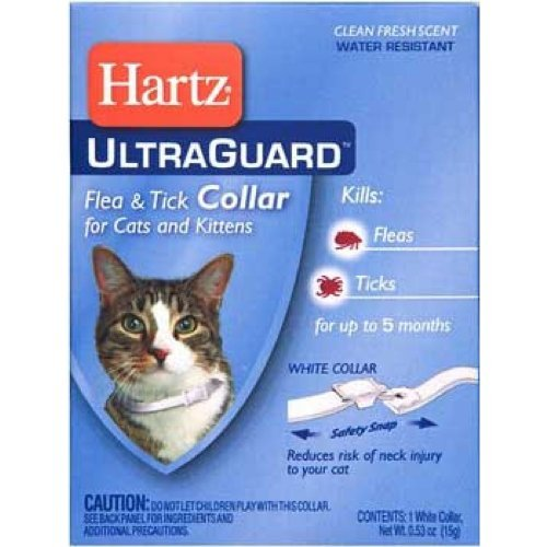 Ultra Guard Flea & Tick Collar - Cats & Kittens - White (Pack of 6)