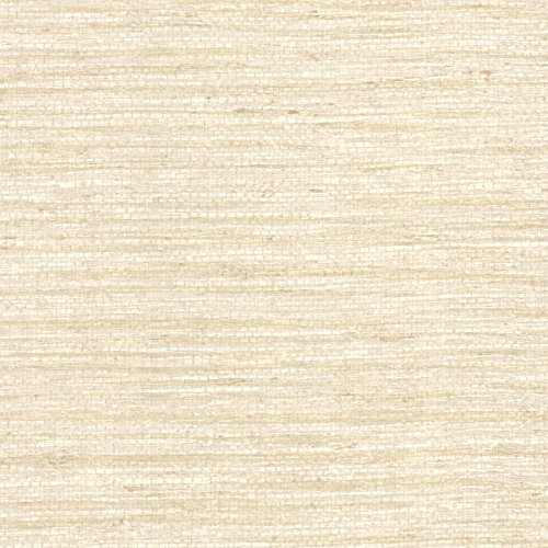 Beige Faux Grass Cloth Wallpaper - 6