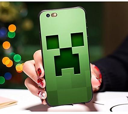 Amazon Com Lime Minecraft Iphone 8 Case Greene Pixel Iphone 7 Soft