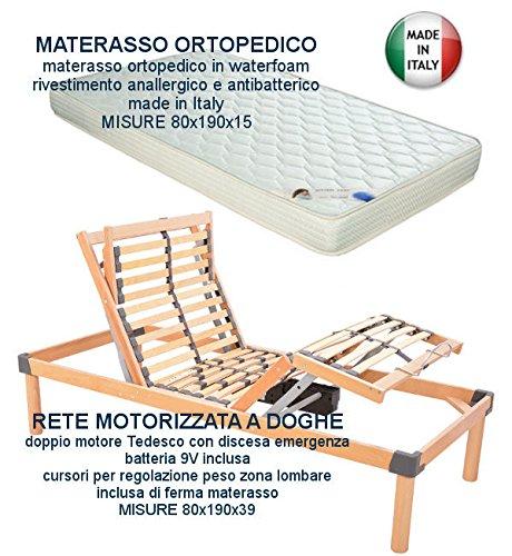 Relax Materassi Fermo.Piu Relax Rete Elettrica Motorizzata A Doghe In Legno Materasso 80x190 Motore Tedesco